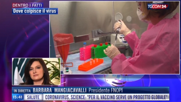 La presidente Mangiacavalli in diretta a Tgcom24 grida il disagio degli infermieri in Italia. Sono 6205 i sanitari contagiati