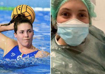 """Abbandona la nazionale di pallanuoto per tornare a fare l'infermiera:""""Lotterò anch'io contro il Covid-19"""""""