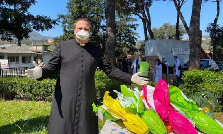 Coronavirus, al Sant'Andrea di La Spezia arrivano le uova Ail: l'Opi ringrazia la Caritas e dona 500 euro alla ricerca.