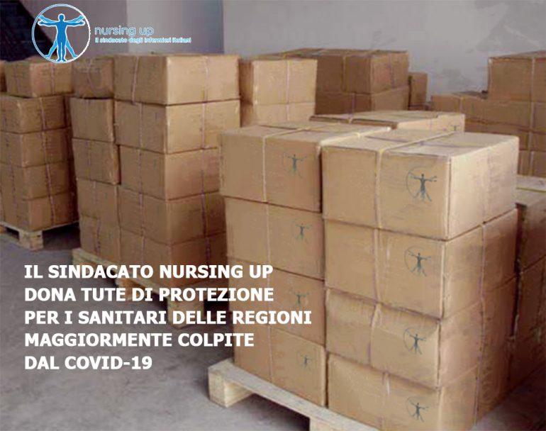 Coronavirus, Nursing Up dona 4.000 tute anticontaminazione a Lombardia, Piemonte ed Emilia Romagna