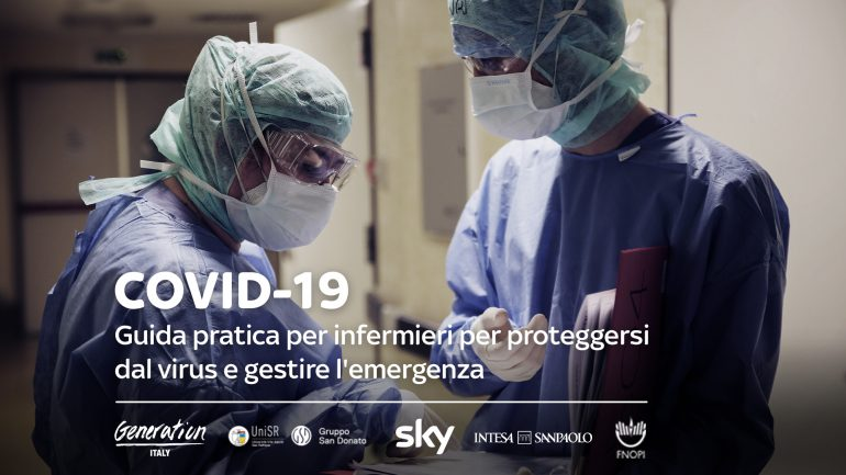 Covid-19: online guida per infermieri per proteggersi e gestire l'emergenza