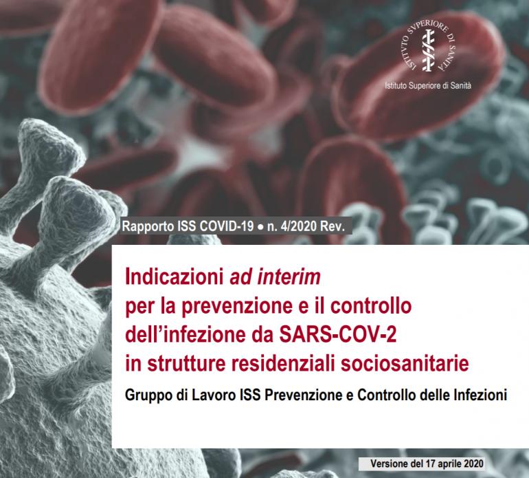 ISS: Indicazioni ad interim per la prevenzione e controllo dell'infezione SARS-COV-2 nelle RSA