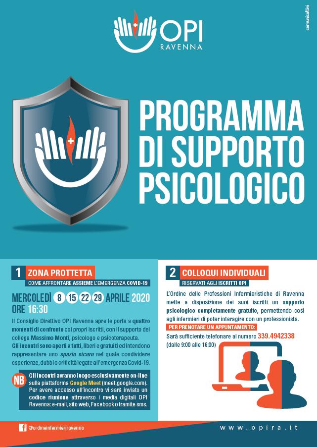 L'opi Ravenna avvia un programma di supporto psicologico per i suoi iscritti 1