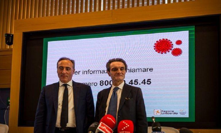 Coronavirus: Fontana e Gallera convocati dalla Procura di Bergamo