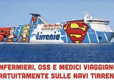 Medici, infermieri e Oss in prima linea contro il Covid-19 viaggiano gratis sulle navi Tirrenia 1