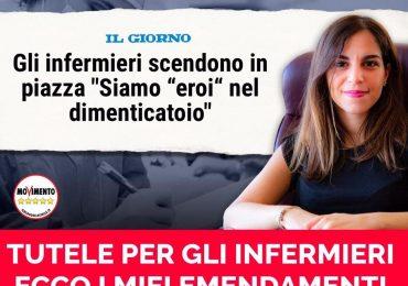 Stefania Mammì (M5S) presenta gli emendamenti al decreto Rilancio in favore degli infermieri