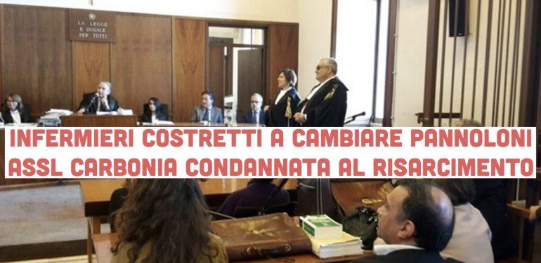 Infermieri costretti a cambiare pannoloni: Assl Carbonia condannata al risarcimento