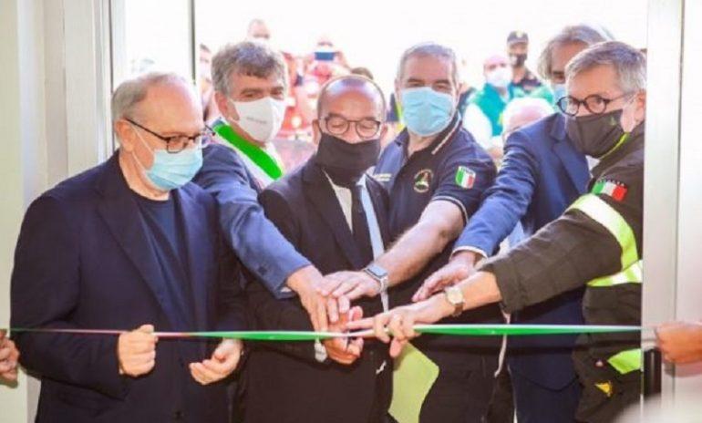 Barletta, inaugurato il distaccamento provinciale della Protezione civile