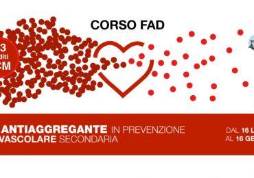 """Corso Fad Ecm """"Terapia antiaggregante in prevenzione cardiovascolare secondaria"""""""
