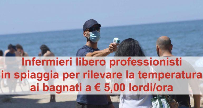 Infermieri in spiaggia a rilevare temperatura e OSS nei reparti a somministrare farmaci: interviene Federconsumatori (con idee confuse)