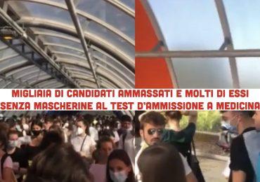 Migliaia di candidati ammassati e molti senza mascherina: critiche sul test d'ammissione a Medicina