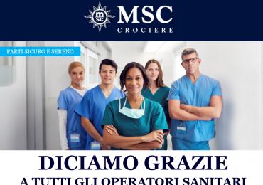 Msc: diciamo grazie a tutti gli operatori sanitari