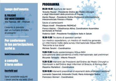Operatori sanitari e Covid, tra esperienza umana e professionale. Se ne parlerà domani a Firenze