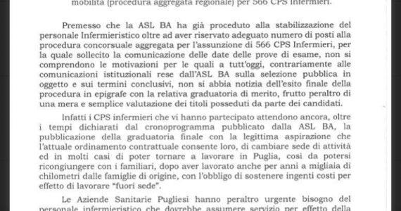 Concorso di mobilità per infermieri in Puglia