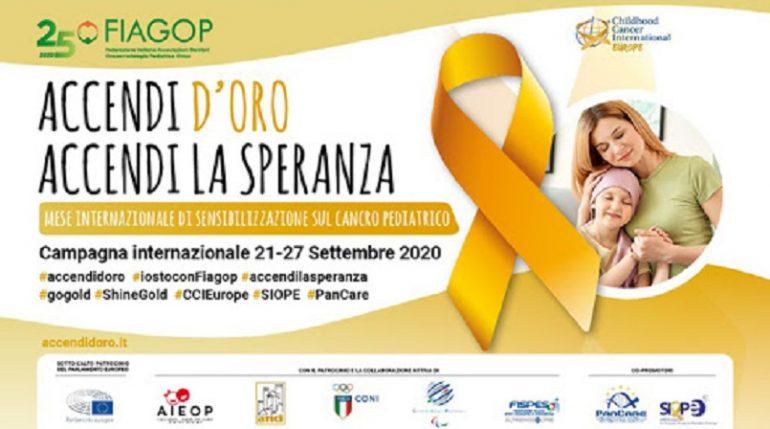 """Cancro infantile, segui la campagna """"Accendi d'Oro, accendi la speranza"""""""