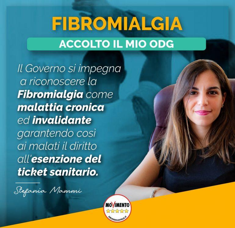 Hon. Mammi '' (M5s) - Fibromialgia: agora o governo reconhece como uma doença incapacitante
