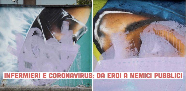 Negazionisti e NoCovid vandalizzano i murales dedicati agli infermieri eroi