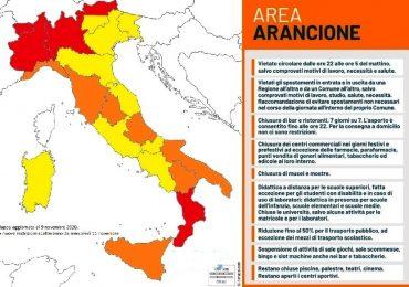 Coronavirus, l'Italia cambia ancora colore: altre 5 Regioni in zona arancione