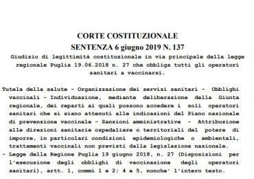 Obbligo vaccinazione operatori sanitari in Puglia? Non esiste