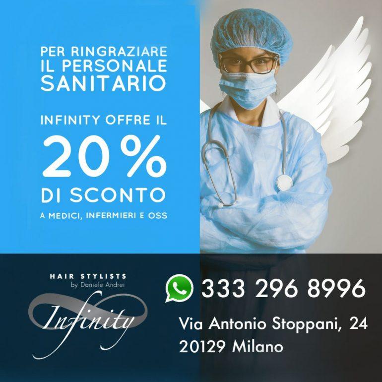 Infinity Hairstylists: sconto del 20% per operatori sanitari