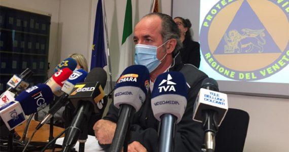 """Coronavirus, nuova ordinanza di Zaia in Veneto: """"Comuni chiusi dopo le 14"""""""
