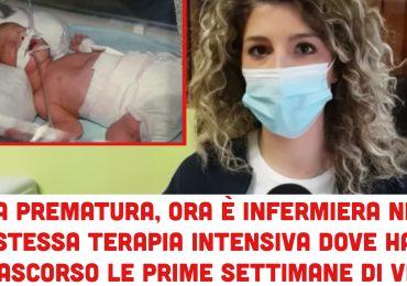Nata prematura, ora è infermiera nella stessa terapia intensiva dove trascorse le prime settimane di vita