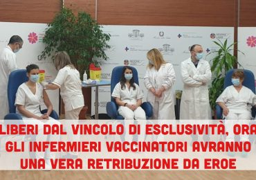 """Covid-19: gli infermieri """"svincolati"""" pronti a vaccinare tramite agenzia interinale a €13,50/ora"""