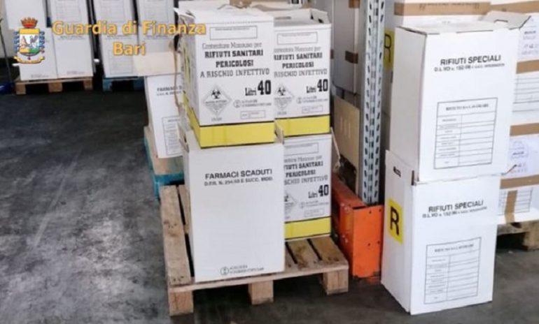 Rutigliano (Bari), illecito smaltimento di rifiuti: sequestrate 10 tonnellate di farmaci scaduti