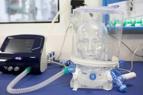 Il casco, il supporto ventilatorio per i pazienti Covid