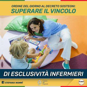On. Stefania Mammì (M5S): superare il vincolo di esclusività per gli infermieri, anche per il bene dei minori disabili