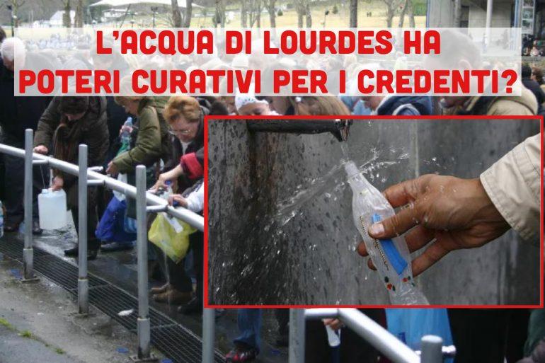 L'acqua di Lourdes è più curativa del placebo se somministrata alle persone fortemente credenti nella religione?
