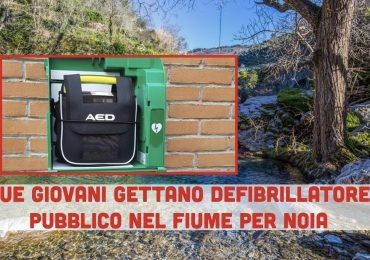 Giovani pregiudicati rubano defibrillatore pubblico gettandolo in un fiume: denunciati per danneggiamento aggravato