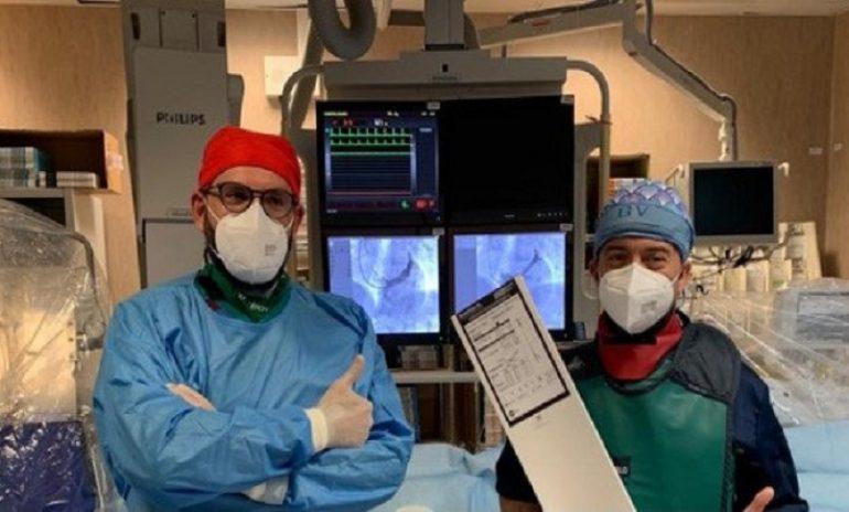 Palermo, impiantato moderno device per alleviare i sintomi dell'angina pectoris