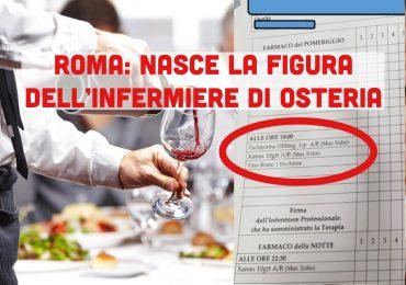 Bicchieri di vino prescritti in RSA nella Scheda Unica di Terapia, nasce la figura dell'infermiere di osteria