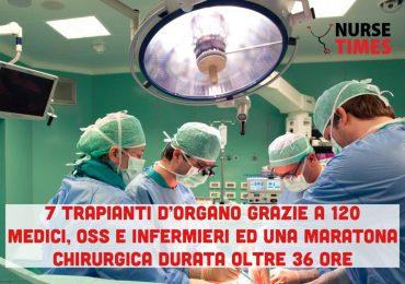 Con una maratona chirurgica di 36 ore 120 medici, infermieri e oss concludono 7 trapianti d'organo