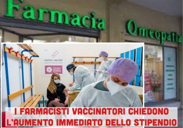 """Farmacisti vaccinatori pronti allo sciopero:""""Subito un nuovo CCNL, aumenti di stipendio e ruolo sanitario"""""""