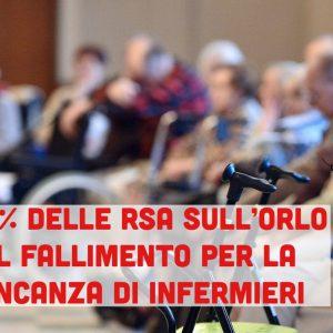 Il 35% delle RSA sull'orlo del fallimento per la mancanza di infermieri, fuggiti per un posto pubblico