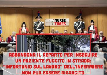 Insegue paziente fuggito dal reparto scavalcando un cancello in strada: l'infortunio dell'infermiere non è indennizzabile