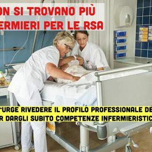 """Nessun infermiere vuole più lavorare in RSA:""""Occorre potenziare subito le competenze degli Oss"""" 1"""