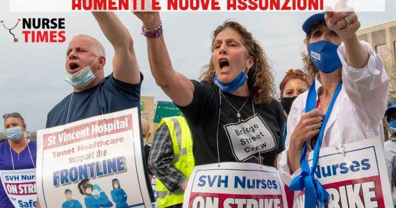 Prosegue lo sciopero selvaggio di 1.000 infermieri in Massachusetts: pazienti abbandonati da quasi 5 mesi