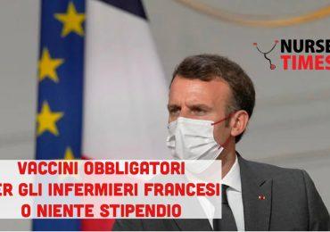 """""""Vaccini obbligatori per tutti i sanitari entro il 15 settembre o niente più stipendio"""". Ultimatum di Macron 1"""