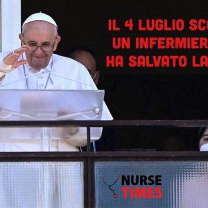 """Papa Francesco:""""Il 4 luglio un infermiere mi ha salvato la vita per la seconda volta"""""""