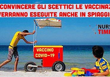 Covid-19: per convincere giovani e scettici ci si potrà vaccinare direttamente in spiaggia