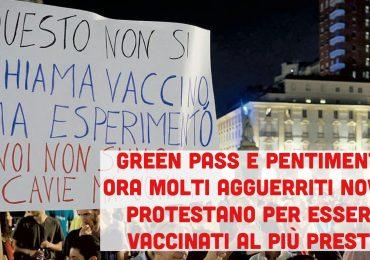 Green Pass e pentimenti: ora i NoVax corrono a vaccinarsi lamentandosi dei ritardi