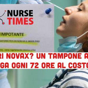 I dipendenti NoVax non rischiano più il posto con un tampone ogni 72 ore addebitato in busta paga 1