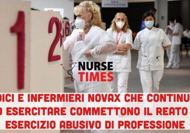 I sanitari NoVax che continuano a lavorare commettono il reato di esercizio abusivo di professione