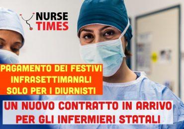 Rinnovo contratto infermieri: festivi infrasettimanali riconosciuti solo ai non turnisti