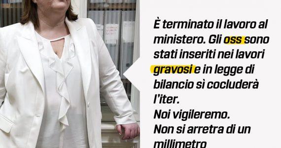 """Senatrice Guidolin """"Oss inseriti tra le professioni usuranti e gravose"""""""