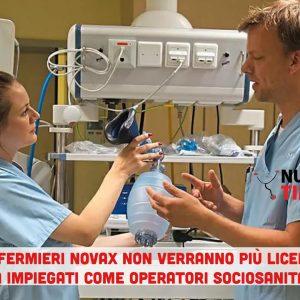 Stop ai licenziamenti degli infermieri non vaccinati: saranno solo declassati ad operatori sociosanitari