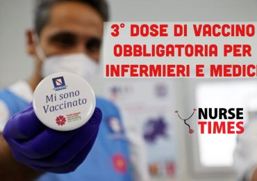 Vaccino Covid-19: via libera del Cts per la terza dose obbligatoria per i sanitari